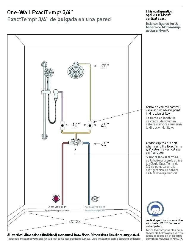 Shower Valve Height Full Image For Rough In Single Control Thermostatic