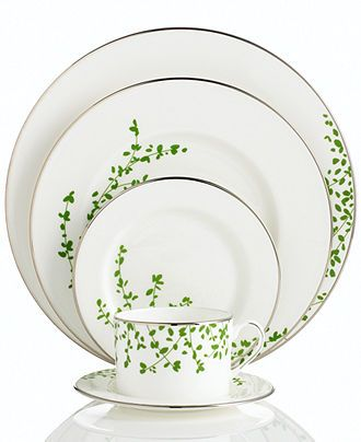 kate spade new york Gardner Street Green 5-Piece Place Setting - Fine China - Dining & Entertaining - Macy's. $ 166.80