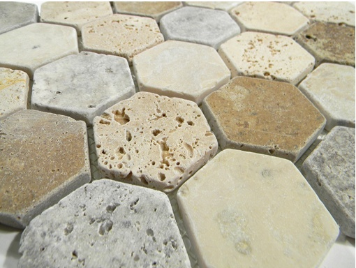 22 best images about travertine stone tile on pinterest for Tumbled glass tile