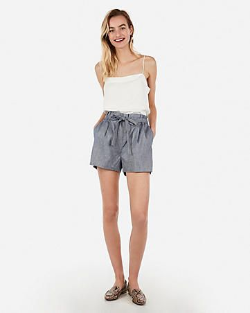 18ad9412dbd536 Women's Paperbag Waist Pants - Paperbag Shorts & Skirts - Express ...