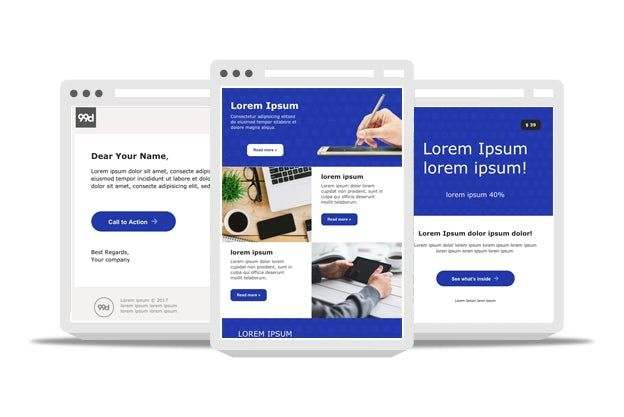 Free email templates for multiple business purposes. Includes email newsletter templates, promotional email templates, and personal notification templates.