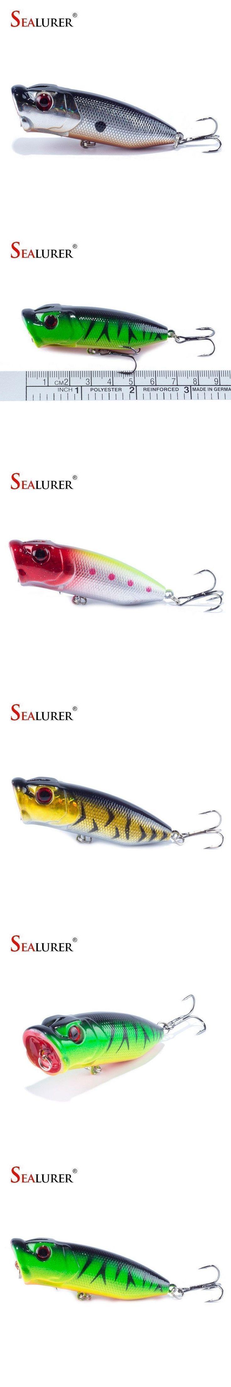Lowest Price Fishing Tackle 3D eyes 6.5CM 13G With 6# Treble Hooks Popper Fishing Lure Plastic Wobbler Artificial Hard Bait #fishinghooks #fishingtackle