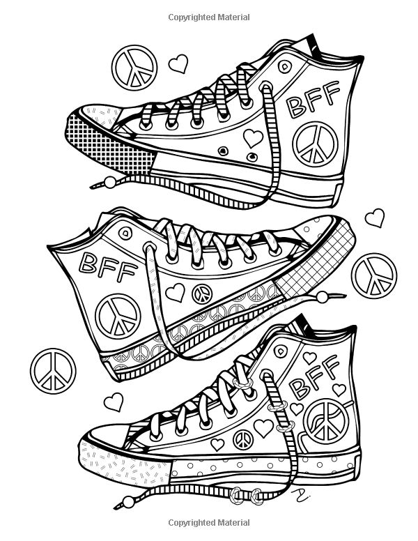 1000 images about colorable pages op pinterest kleuring for Girly coloring pages