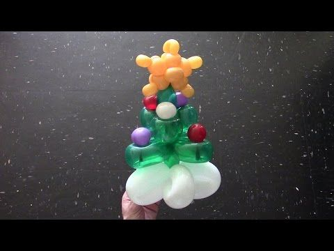 One balloon Christmas tree