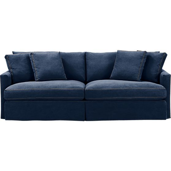1000 images about denim on pinterest denim couch cindy for Red denim sectional sofa