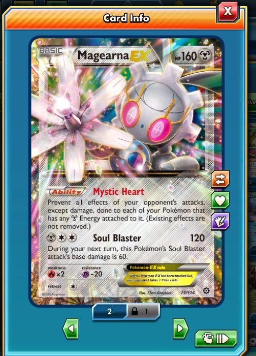RA Magearna-EX 75/124 - Pokemon Trading Card Game PTCGO Digital card online | eBay #ptcgo #pokemontcgo #pokemon #pokemoncards #pokemon20 #pokemontcg #pokemonx #pokemony #pokemoncommunity #pokemonxy #pokemonart #pkmncard #pokemontrainer #pokemonmaster #pokemoncollector #pokemonred #pokemonmoon #pokemonsunandmoon #pokemoncenter #pkmn #venusaur #pokesphere #rare #ultrarare #blastoise #charizard #pokemonxandy #pokemonbattle