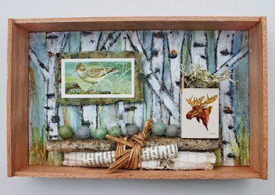 mano kellner, project 2016, kunstschachtel / art box nr 1/2016, im birkenwald  (sold)