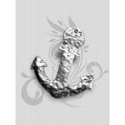 Μεταλλικό διακοσμητικό άγκυρα από σφυρήλατο φύλλο αλουμινίου Διάσταση: 4Χ5cm