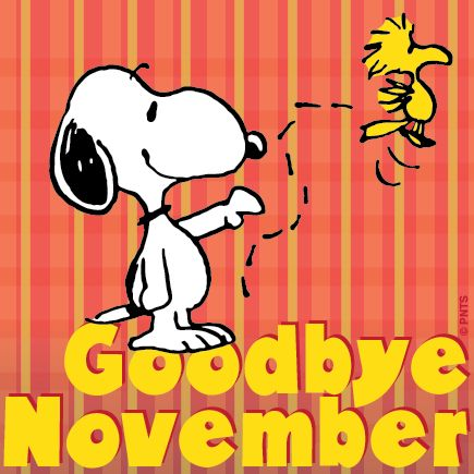 Goodbye November - you have been a lot of fun this year - look forward to next year!