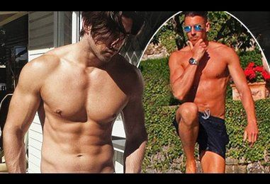 Bachelorette contestants strip down for shirtless social media snaps