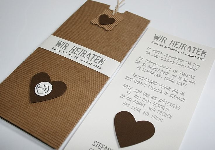 Hochzeitskarten - Hochzeitskarte Be Nature No.3 Choco - ein Designerstück von Aylando-Hochzeitskarten bei DaWanda