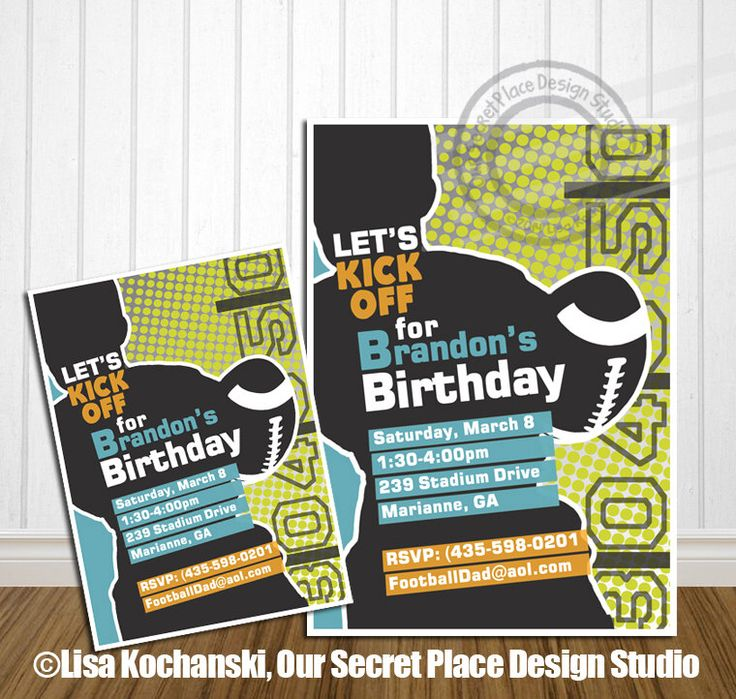 PRINTABLE Football Birthday Invitation Football Birthday Invites Sports Birthday Invitation Sports Birthday Invite Football Birthday Party by OurSecretPlace on Etsy https://www.etsy.com/listing/161197455/printable-football-birthday-invitation
