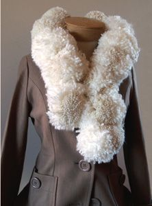 DIY Style :: Projects :: Fashion Sewing Projects :: Pom-Pom Boa Scarf