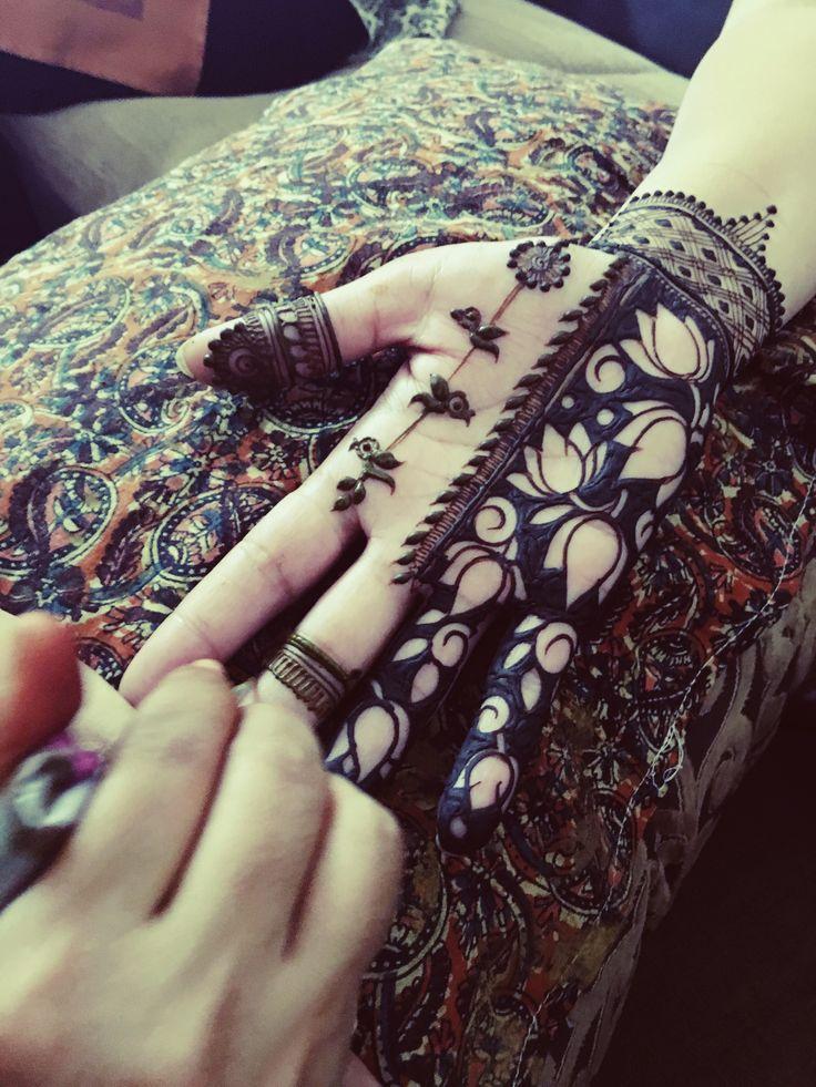 Mehendi Designs - Lotus Motif Mehendi Hand Design | WedMeGood #wedmegood #indianbride #indianwedding #mehendidesign #mehendi #mehandidesign #henna #tattoo