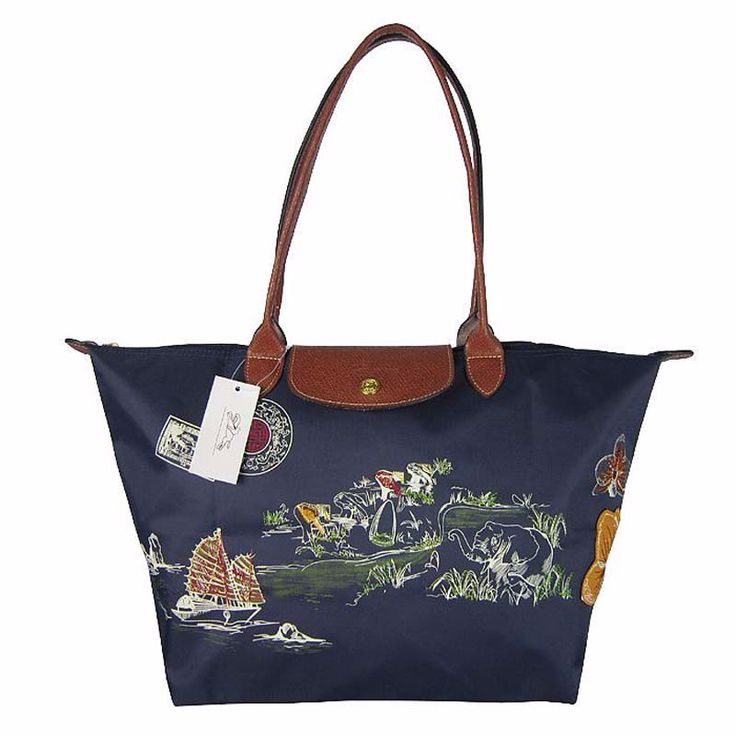 Embroidered Casual Tote Bag