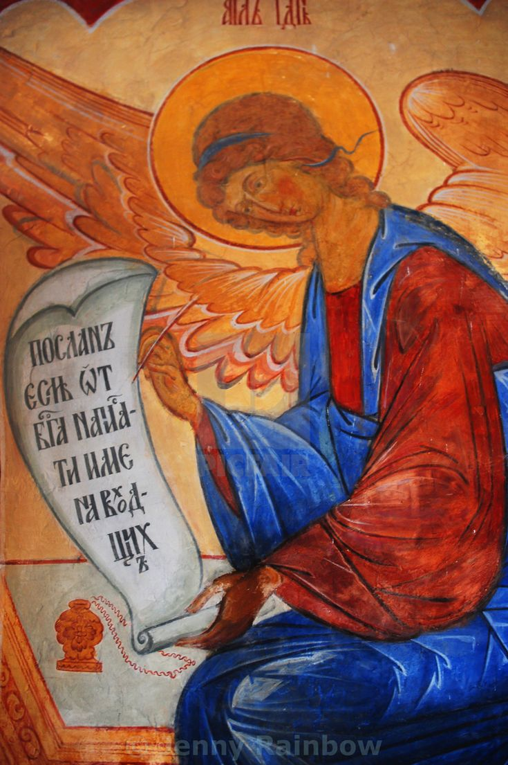"""Archangel Gabriel. Russian Fresco"" by Jenny Rainbow - £10"