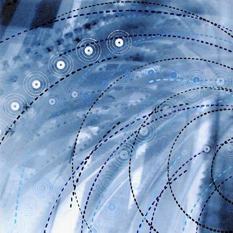Amanda Knowles. Flux IV, 2008. Digital Print and Screenprint. 1/1. 10-1/4 x 10-1/4 inches (16 x 16 in. framed).