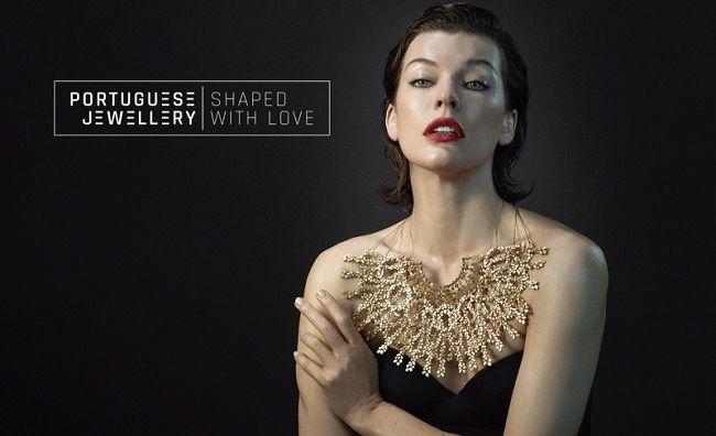 La rinomata attrice e modella Milla Jovovich è la protagonista della campagna pubblicitaria internazionale per la Gioielleria Portoghese.