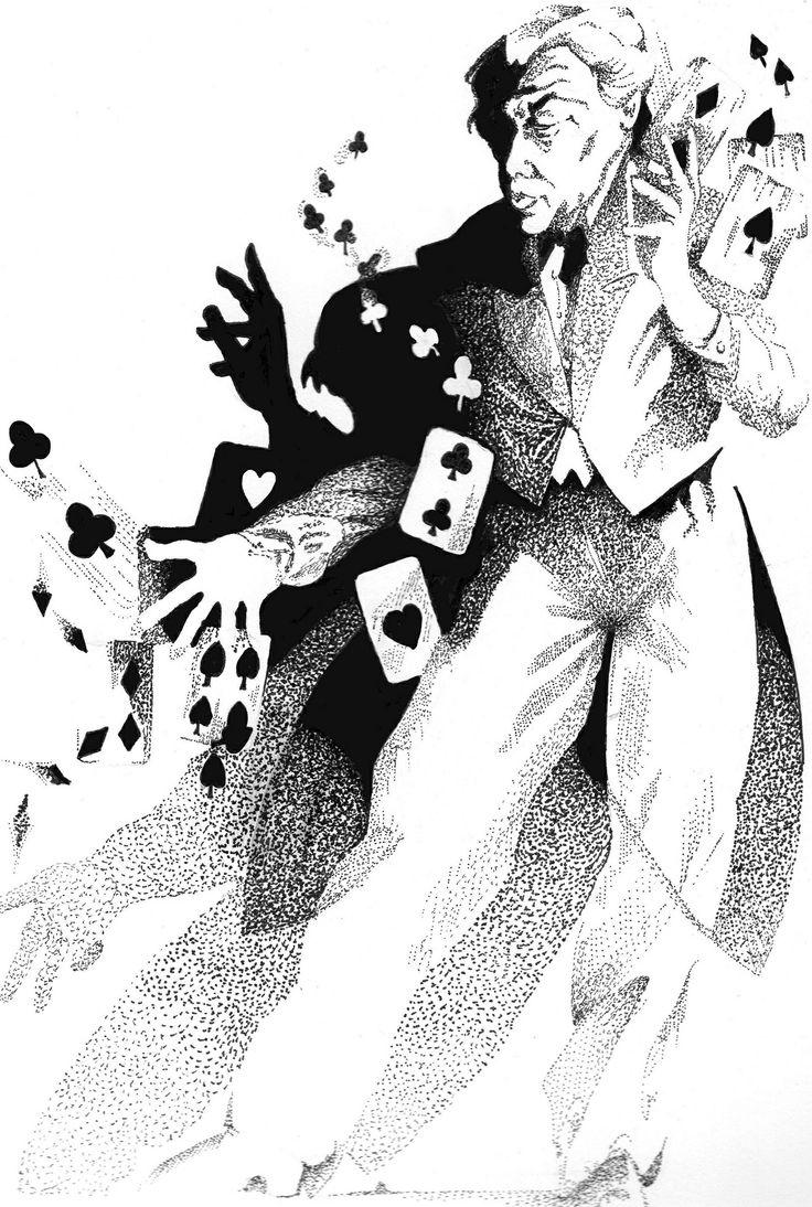 Pointillisme  l encre de chine par K Te Dunne Copie du