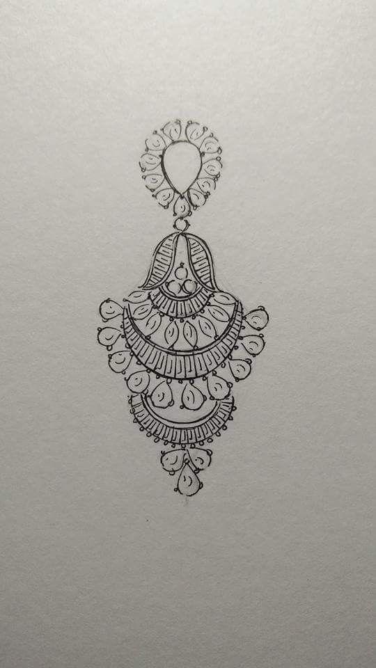 Beautiful earrings in diamonds