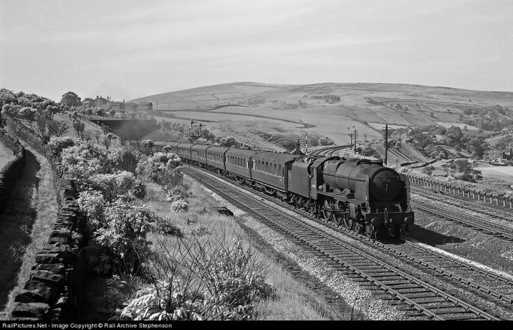 London Midland & Scottish Railway Royal Scot 4-6-0 at Lancashire,1960