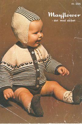 Babyjakke og hue