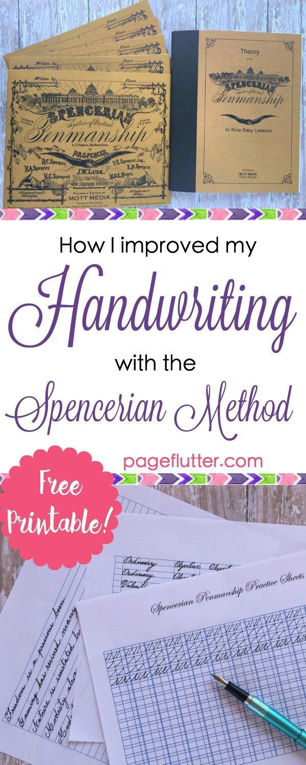 How I Improved My Handwriting with Spencerian Penmanship| http://pageflutter.com | Spencerian cursive is a lovely and practical penmanship program for journaling and handwritten letters.