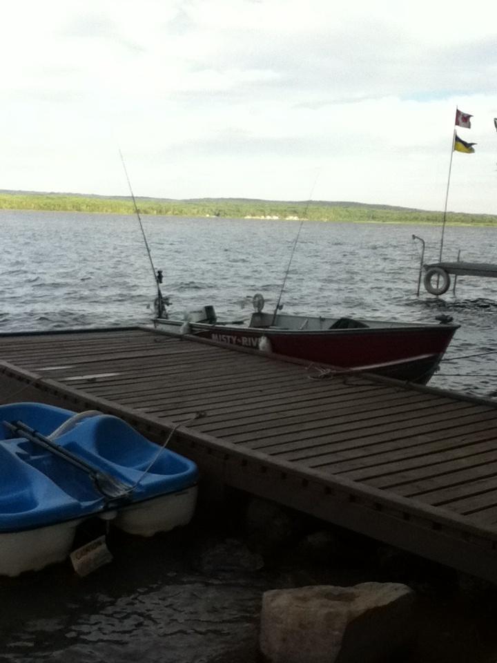 dock + water