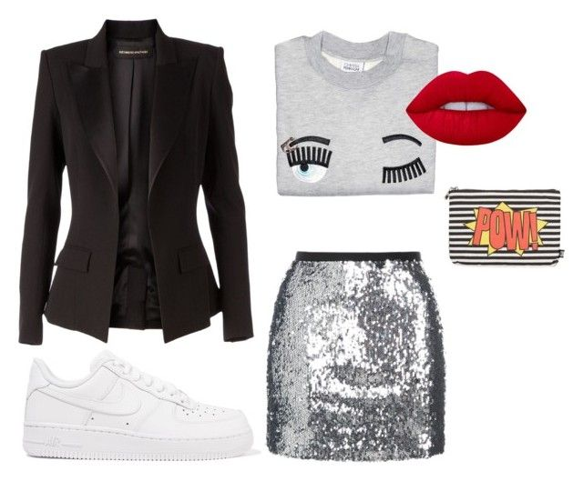 Без названия #17 by ladyion on Polyvore featuring мода, Alexandre Vauthier, Topshop, NIKE, Sam Edelman and Lime Crime