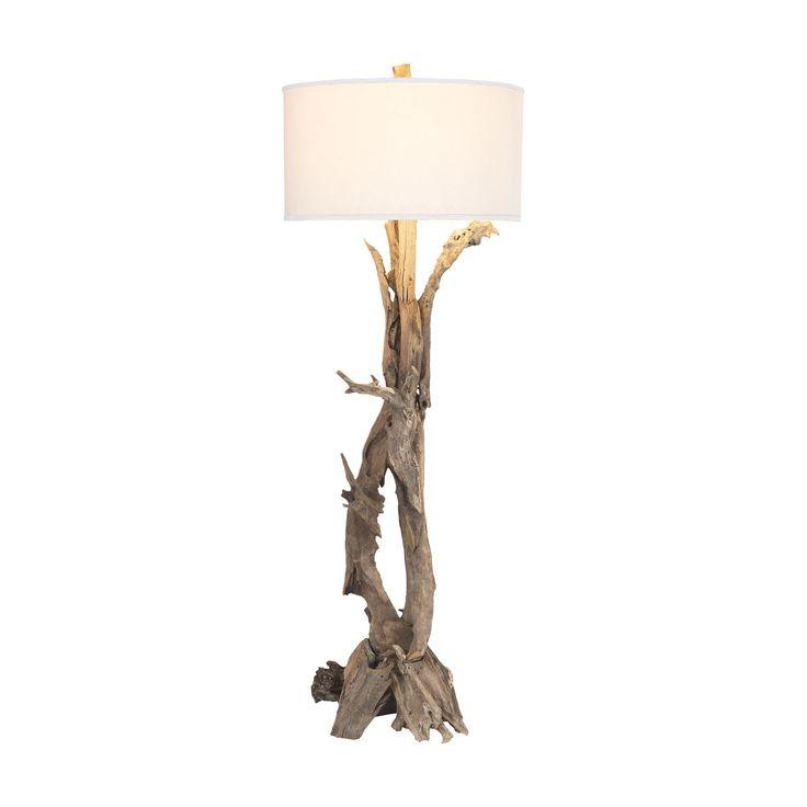 Hounslow Heath 1 Light Floor Lamp In Natural Teak Root