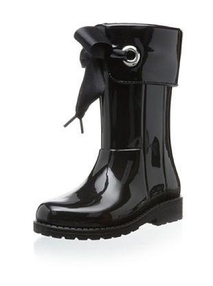 50% OFF igor Kid's Campera Charol Rain Boot (Negro)