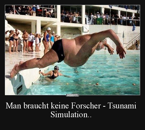 Man braucht keine Forscher - Tsunami Simulation..