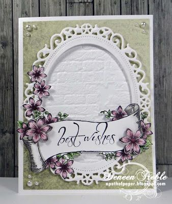 Heartfelt Creations, Posy Patch 12x12, Sun Kissed dies and stamps, Spellbinders, Copics.