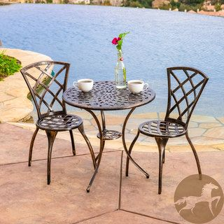 Modern 3 Piece Bistro Set By Christopher Knight Home. Patio Furniture ...