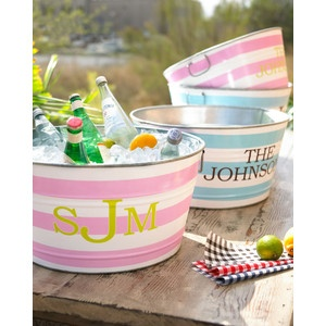 Monogrammed Party Tub, what a great idea for a party!