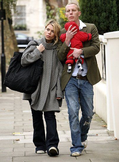 Billie Piper and hubby Laurence Fox + bubs