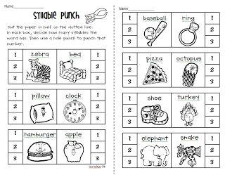 25+ best ideas about Syllables kindergarten on Pinterest | Card ...