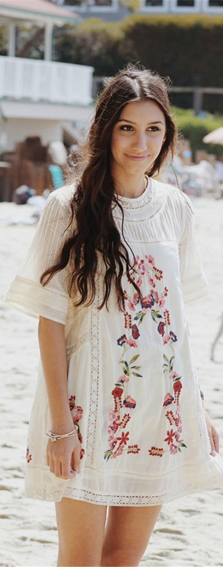 A Floral Embroidery Dress is now available at $45 from Pasaboho. This dress exhibit brilliant design with unique embroidered patterns. ❤️ boho dress :: gypsy style :: hippie chic :: outfit ideas :: boho clothing :: free spirit :: fashion trend :: embroidered :: flowers :: floral :: summer :: fabulous :: love :: street style :: fashion style :: boho style :: bohemian :: modern vintage :: ethnic tribal :: embroidery dress :: skirt :: cardigans :: summer dress :: boho chic :: boho outfit