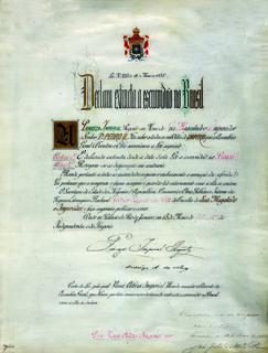 Lei Áurea carta de lei n° 3.353 pela qual a princesa regente Isabel declara extinta a escravidão no Brasil. Rio de Janeiro, 13 de maio de 1888. Secretaria de Estado dos Negócios da Agricultura, Comércio e Obras Públicas.