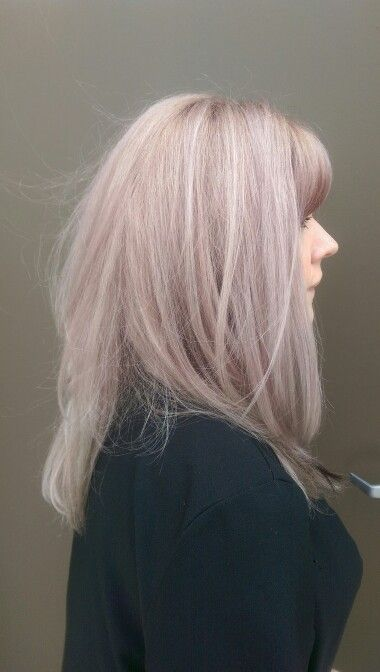 Pearl blond hair by Tanya Owens , A Hot Mess Salon
