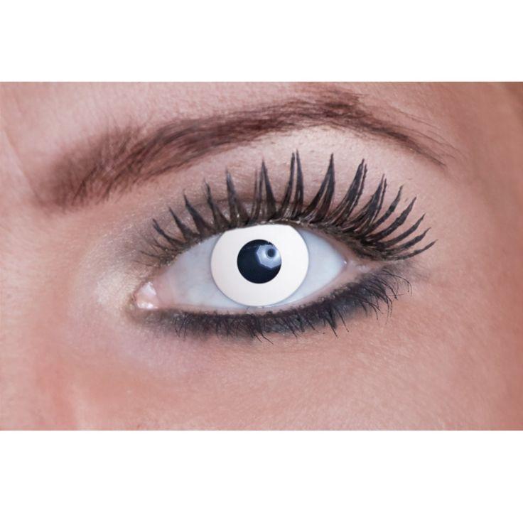 Eyecatcher Color Fun - Farbige Kontaktlinsen - White Zombie- 2 Stück (1 Paar) -perfekt für Karneval, Fasching, Halloween and Party, 1er Pack (1 x 2 Stück): Amazon.de: Drogerie & Körperpflege