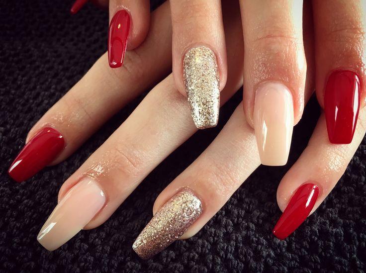 Ballerina Glitzer Rot Nails
