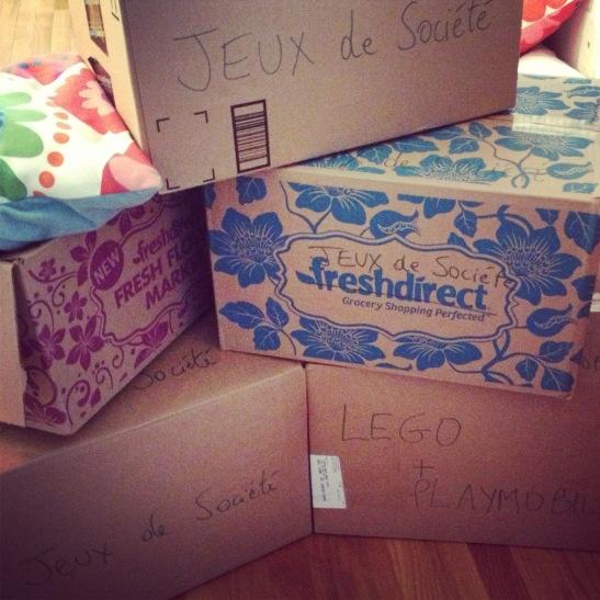 Déménagement, cartons et frustrations