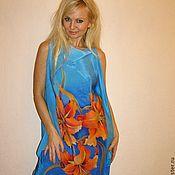 Одежда ручной работы. Ярмарка Мастеров - ручная работа платье- Лилии. Handmade.