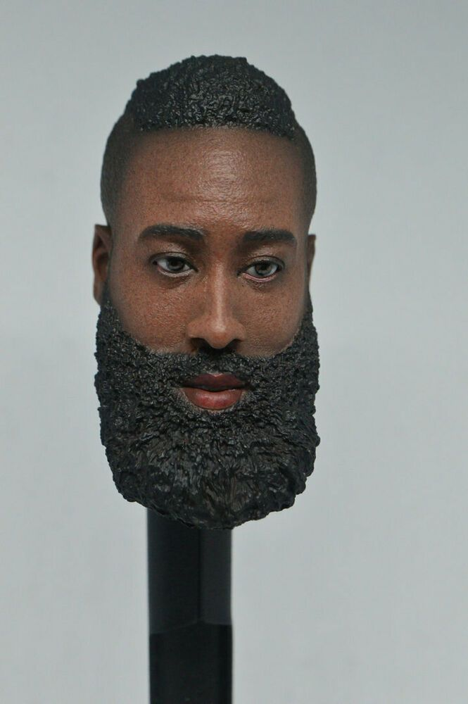 1//6 Scale LeBron James Male Head Carved Beard Version Fit 12'' Figure
