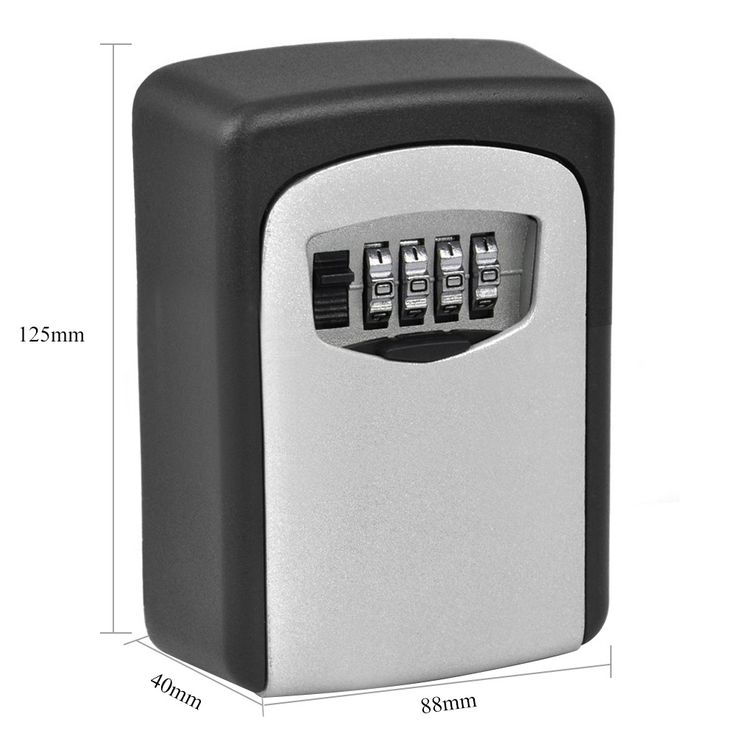 Al aire libre Caja de Seguridad Clave Clave De Almacenamiento Organizador con 4 Dígitos Contraseña Combinación de Bloqueo Montado En La Pared A Prueba de agua
