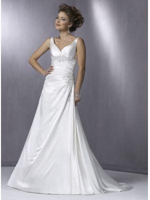 robe de mariée 2011 avec bretelles  cou en forme de coeur  Dentellets au dos