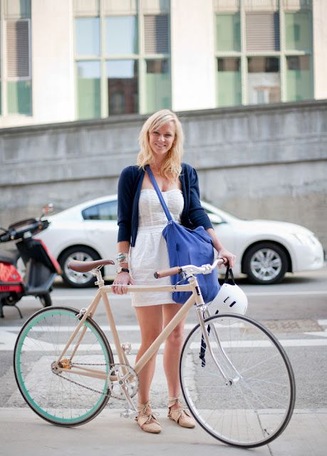 Urban cycle chic (fixed gear) and Bicycles Love Girls.  http://bicycleslovegirls.tumblr.com/
