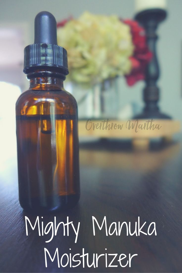 Dry Skin DIY for cooler weather and drier climates: Mighty Manuka Moisturizer