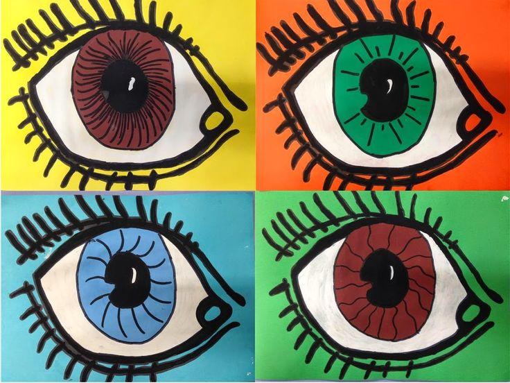 #OBRE EL ULLS - Material: cartolina,retolador, pintura - Nivell: Primària CM 2014-15